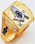 Masonic Gold Ring - 9973
