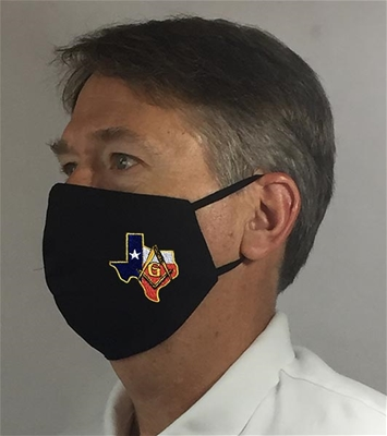 Texas Masonic over Ears Face covering - 100% USA MADE