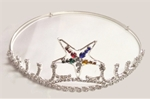 Estrellia Eastern Star Tiara in Silver tone with colored star