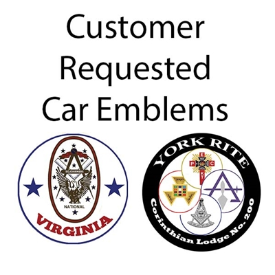 Customer Request Masonic Car Emblems