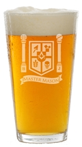 Masonic 16 oz pint glass