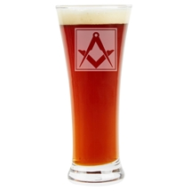 Masonic Pilsner 12 oz Glass
