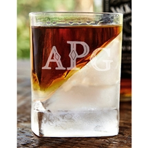 Monogram Ice Whiskey Glass