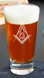 Large Masonic engraved Firing Glass