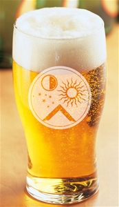 Masonic engraved Tulip Beer Glass