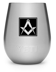 Masonic engraved Yeti wine tumbler