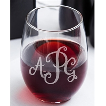 Monogram Stemless 15oz Wine glass
