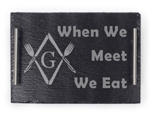 Masonic engraved Slate Tray