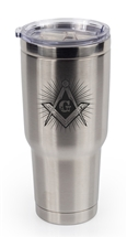 32 OZ MASONIC STAINLESS STEEL THERMAL TUMBLER