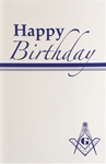 Happy Birthday Greeting Card with Masonic Logo (PK of 25)