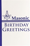 Masonic Birthday Greeting Card with Masonic Logo (PK of 25)