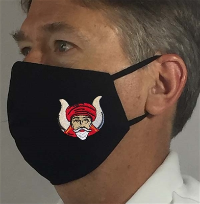 Grotto Black Masonic over Ears Face covering - 100% USA MADE