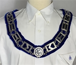 Blue Lodge Chain collar in Silvertone - Roadshow