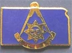 Kansas Past Master Lapel Pin