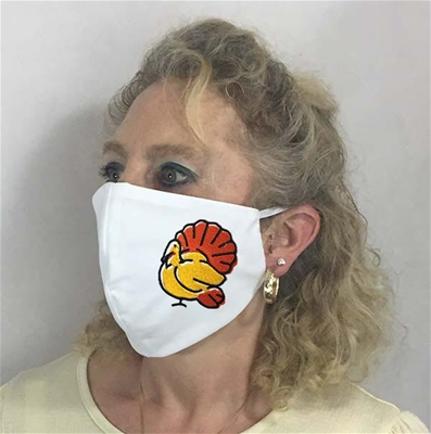 Thanksgiving Turkey Face Coverings w 6 inch Elastic - USA made to order