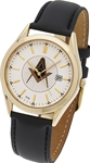 Masonic Wrist Watch w/ Leather Band