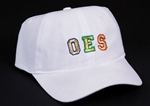 OES Hat - White Lightweight Women's Hat gold