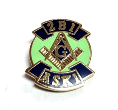 2B1 ASK1 Lapel Pin (Lime Green center)
