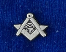 MASONIC ALL SEEING EYE SQUARE AND COMPASSES LAPEL PIN