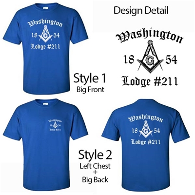 Masonic Lodge T-Shirt Old English Design