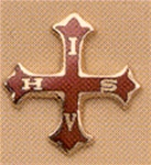 Scottish Rite Red Cross lapel pin 14kt gold