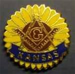 Sunflower Master Mason Pin