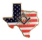 Texas State Square & Compass Button