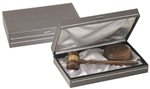 Walnut gavel & sound block in presentation box