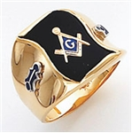 "Master Mason ring with S&C and ""G""-10KYG"