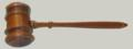 "Masonic Gavel Hammer 11"" Walnut Judge Size"