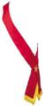 Plain Unlined Star Point Ribbon Sash