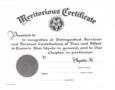OES MERITORIOUS CERTIFICATE