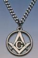 Masonic Necklace  Pewter
