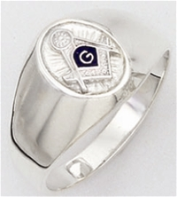 "Mason rings Round front with S&C and ""G"" - Sterling Silver"