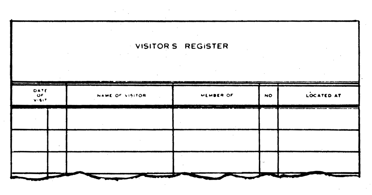 Visitor's Register Book