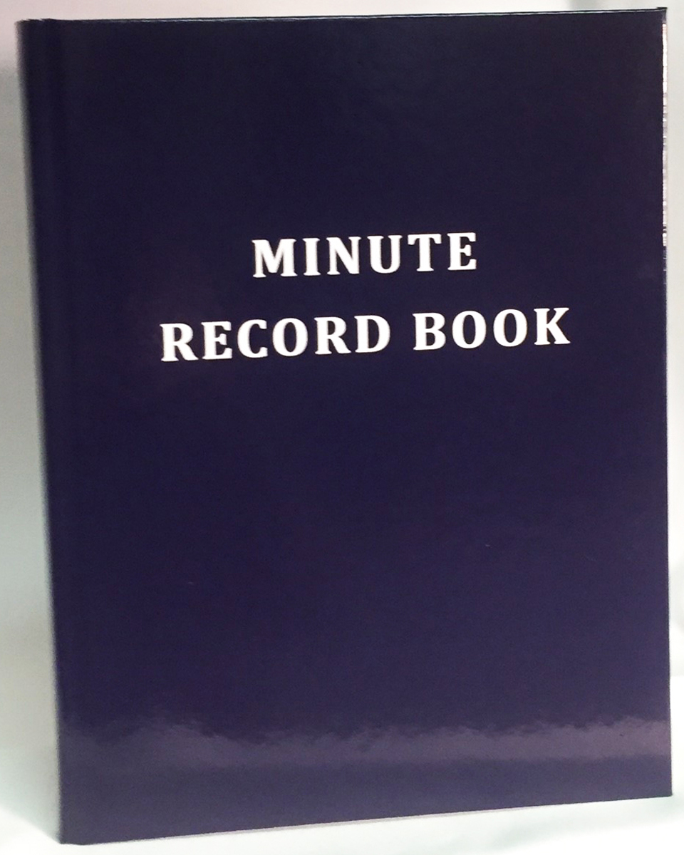 Masonic Minute - Record Book 300 pages