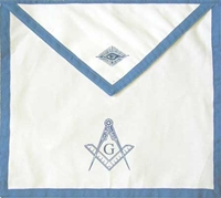 Masonic Apron Cloth 13 x 15 inch  with Blue Trim - Individually Sold