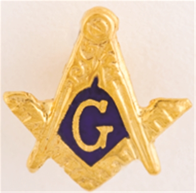Masonic Lapel Button in 10K YG