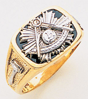 Past Master ring - 3314 - Solid back
