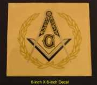 "6"" Masonic Decal"