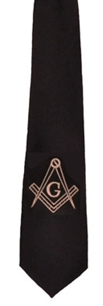 Masonic Tie - Plain Black