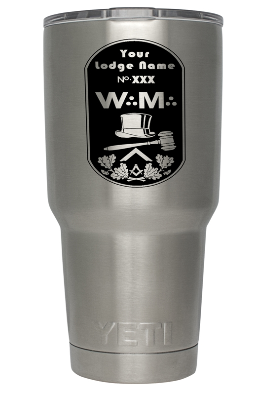 Lodge engraved Yeti 30 oz Rambler Tumbler