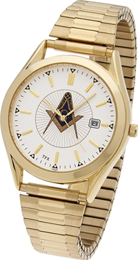 Masonic Watch w/ Expansion Band - Goldtone